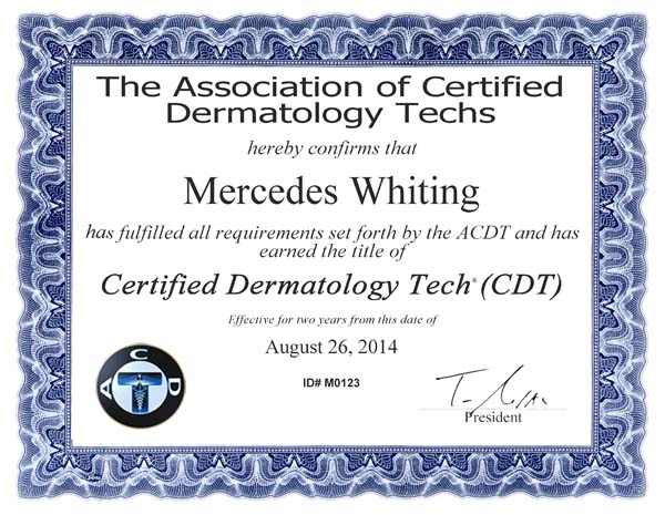 CertificateMWhiting
