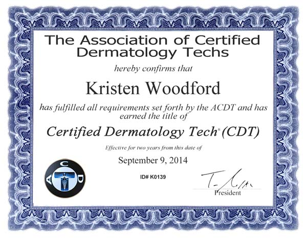 CertificateKWoodford