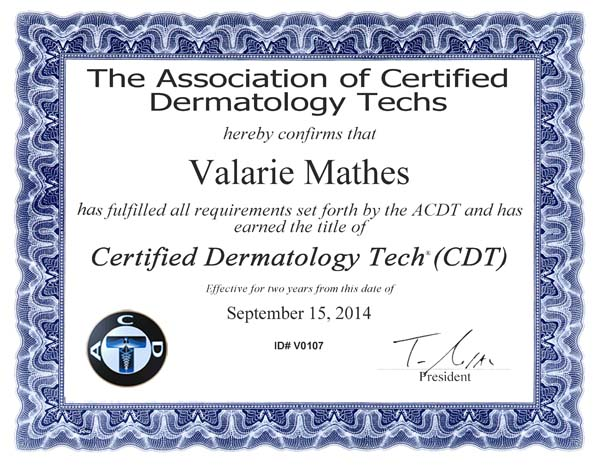 CertificateVMathes